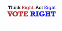 Think Right. Act Right. Vote Right! | Opine Needles