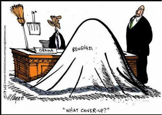 """Obama """"What Cover Up?"""" Benghazi"""